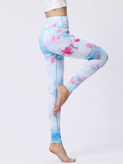 likeBunny Watercolor Pattern High-Rise Tight Leggings 28""