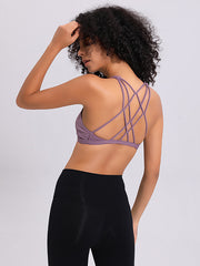 LikeBunny Gathering Cross Back Light Impact Sports Bra Rhapsody