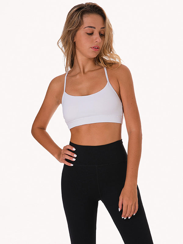 LikeBunny Flow Y Bra Medium Impact Sports Bra white