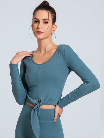 LikeBunny Align For Long-sleeve Crop Top