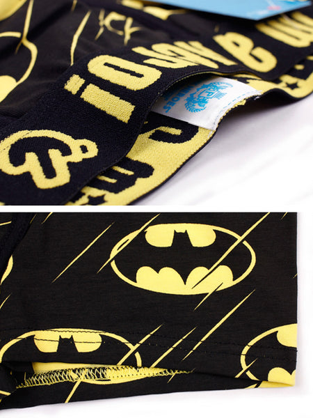 Hot-selling Super Hero Printed Couple Underwear Batman Yellow Black Men