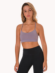 LikeBunny Flow Y Bra Medium Impact Sports Bra Thistle
