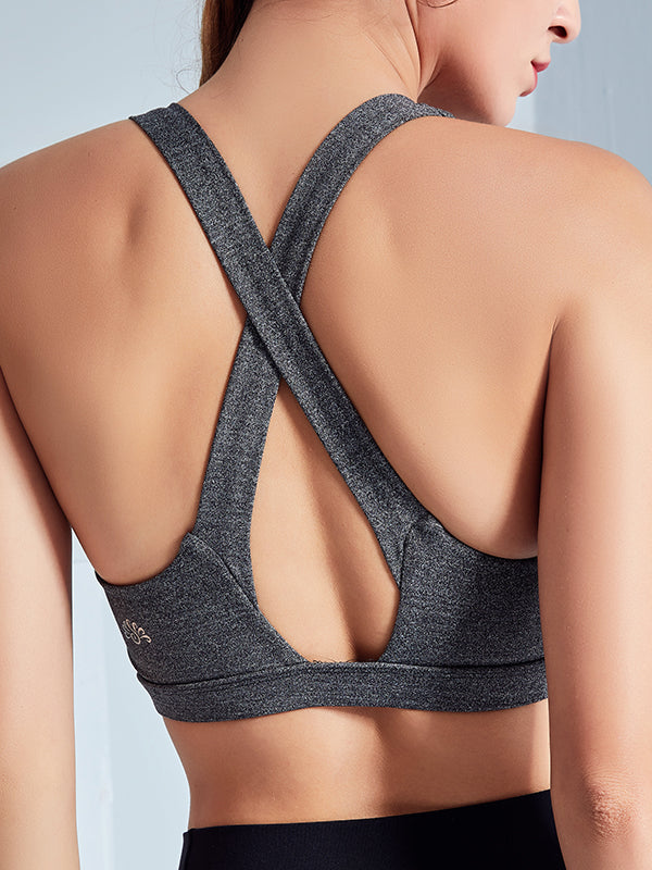 LikeBunny Cross-Back Sports Bra