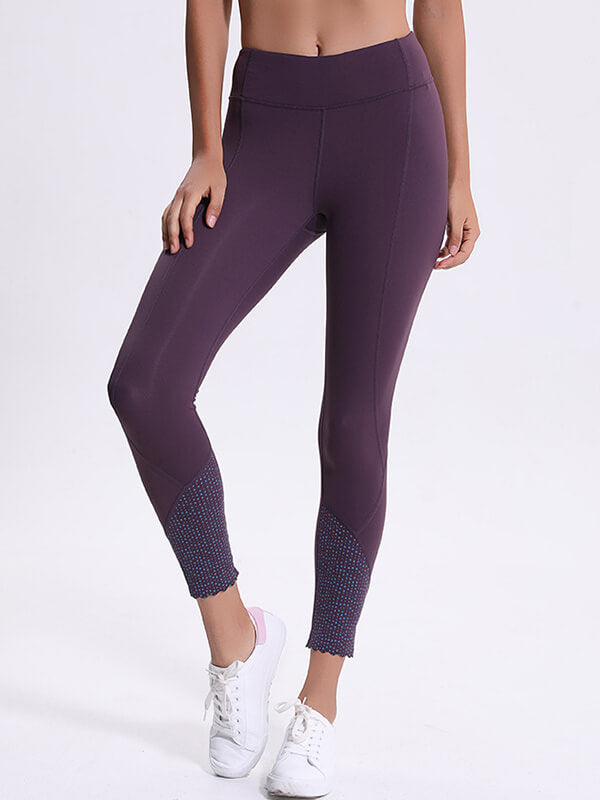 LikeBunny Be Fresh Printed Tight Sports Leggings with Pocket 28""