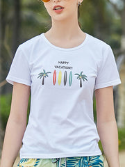 Happy Pattern Couple's T-shirt - Women