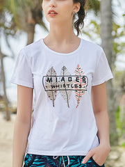 Mioer Pattern Couple's T-shirt - Women