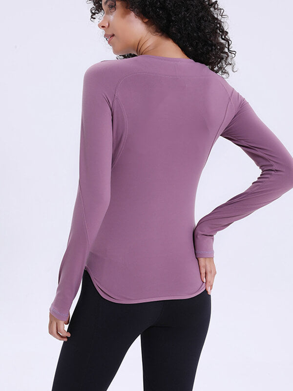 LikeBunny Openwork Tight-fitting Long Sleeve