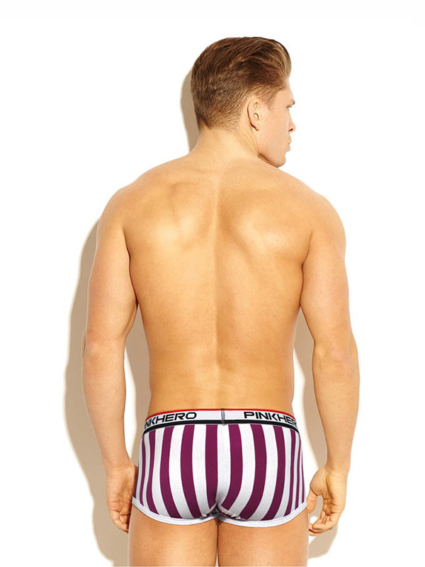LikeBunny Vertical Stripes Printed Trunk 1212 purple