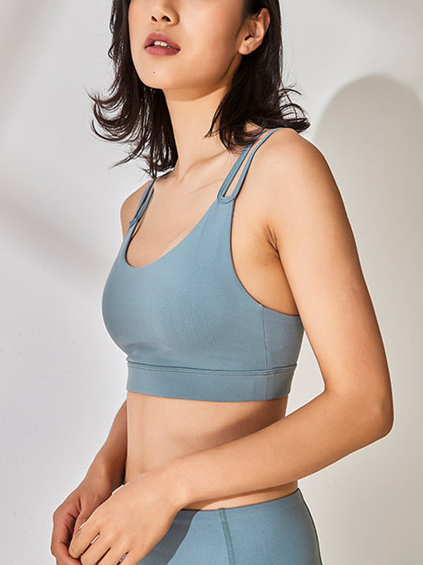 Classic Women's High Impact Support Workout Sports Bra Blue