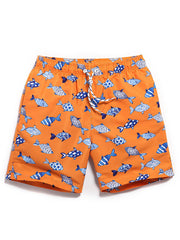 LikeBunny Couple's Tropical Fish Beach Shorts