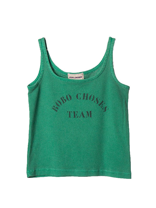 Cozy Toddler Kid's Cartoon Prints Sport Tank Top Boy Girl Green Letter