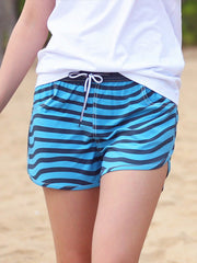 Couple's Beach Shorts in Blue & Navy