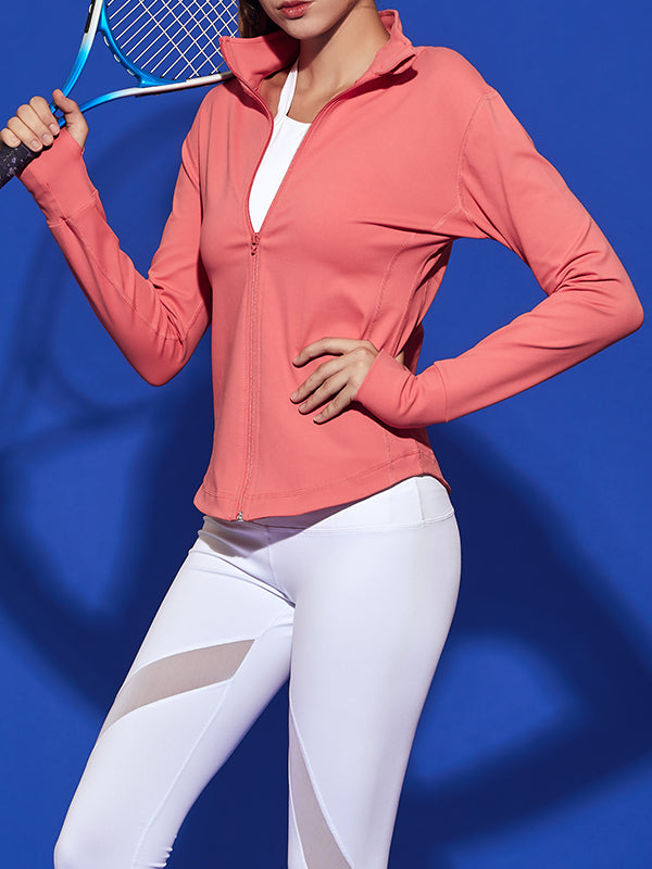 LikeBunny Coral Pink Cut Class Sports Jacket