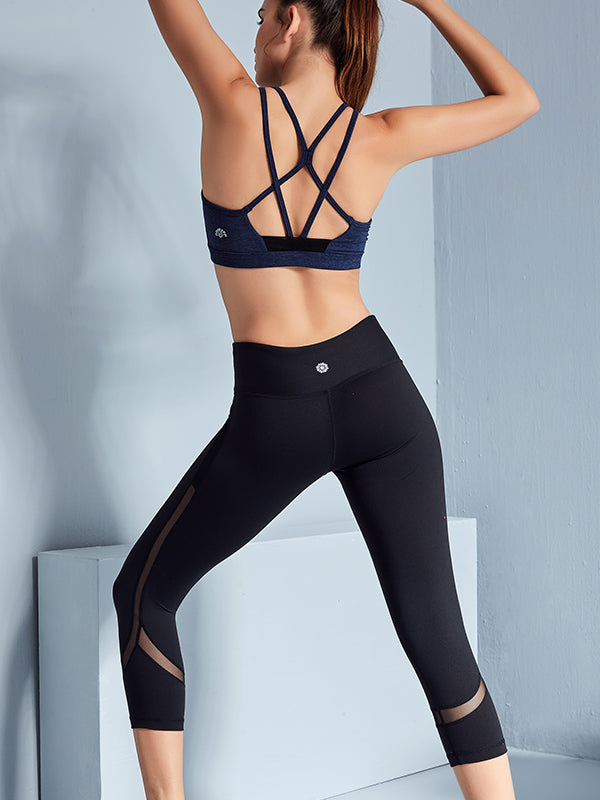 LikeBunny Strappy Back Sports Bra