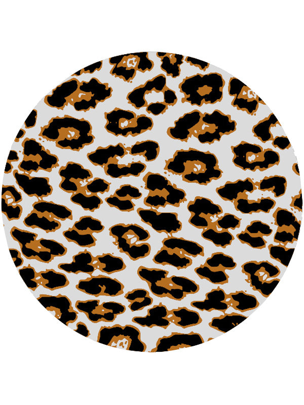 Fashionable Printed Summer Round Beach Towel Leopard