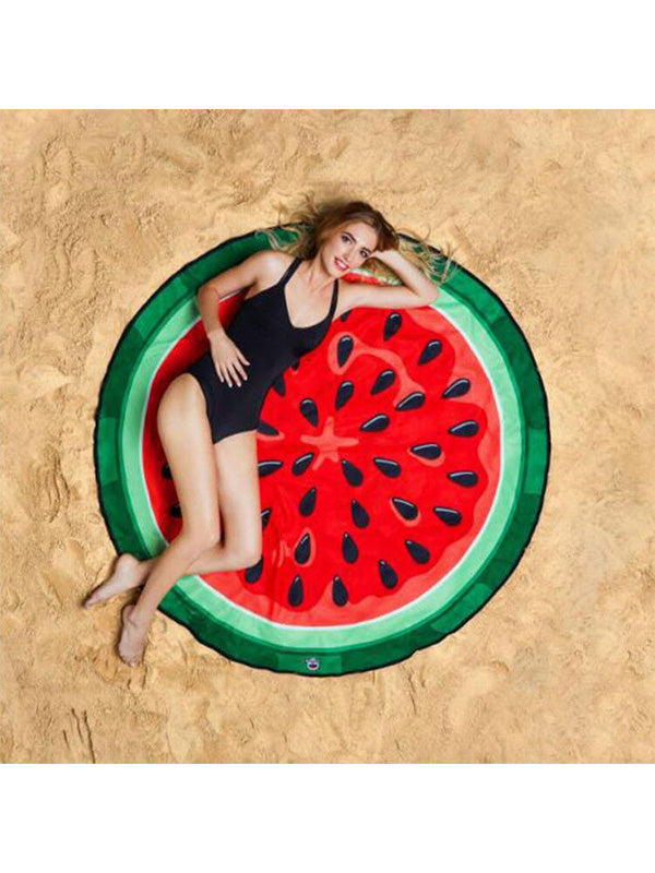 Sweet Fruits Theme Summer Beach Towel Watermelon