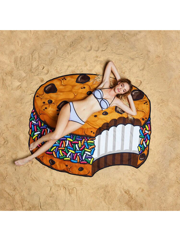 Delicious Dessert Theme Summer Beach Towel Cookie