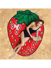 Sweet Fruits Theme Summer Beach Towel Strawberry