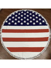 Fashionable Printed Summer Round Beach Towel USA Flag