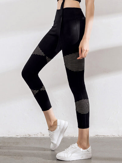 "LikeBunny Mesh-Mix Yoga Leggings 26"" Black"