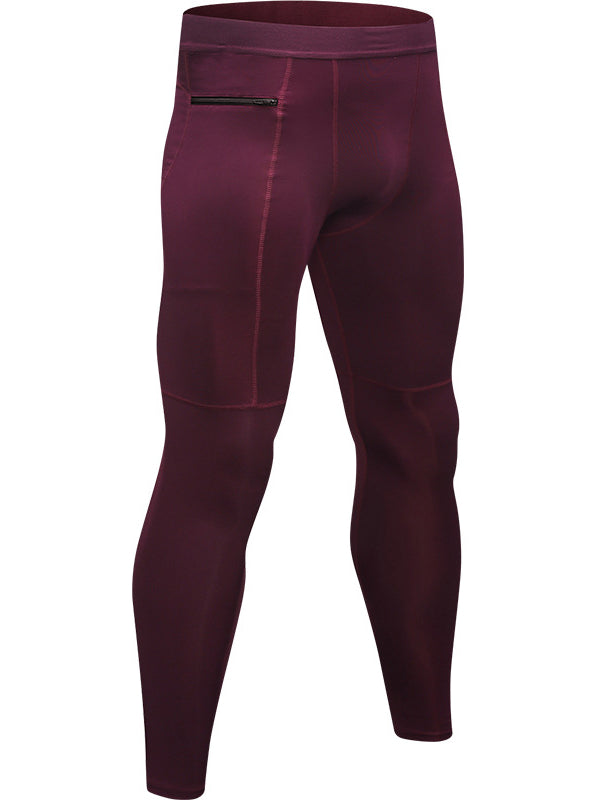 LikeBunny Men's Tight Sports Pants with Zipper Pocket 28""