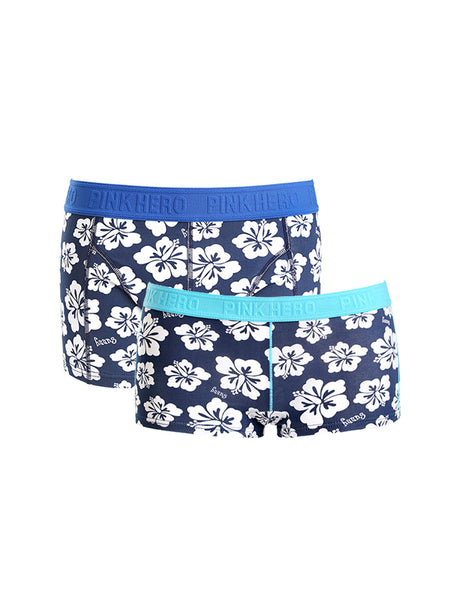 LikeBunny Couple's Flower Pattern Matching Underwear