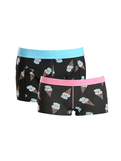 LikeBunny Couple's Ice-cream Pattern Matching Underwear