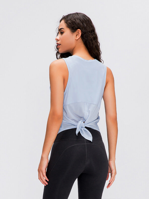 LikeBunny Openup Mesh Tie Back Tank
