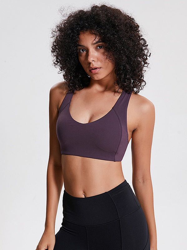 LikeBunny Laser Focused Medium Impact Sports Bra prune purple