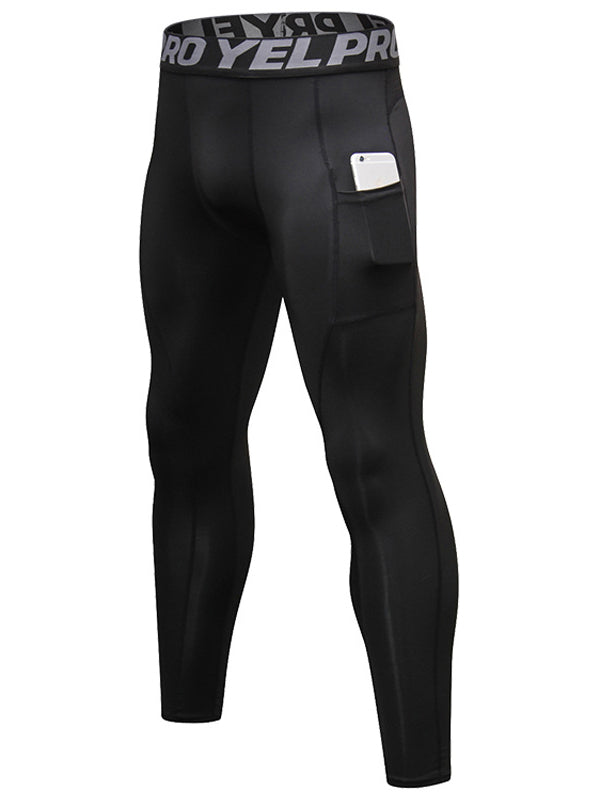 LikeBunny Men's Tight Sports Pants with Pocket 28""
