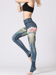 LikeBunny Elephant Printed High-Rise Yoga Leggings
