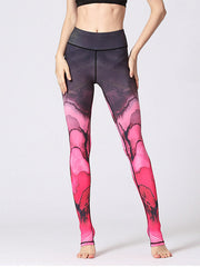 LikeBunny Flowers Printed High-Rise Yoga Leggings