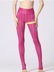 LikeBunny Pink Dreamcatcher Printed High-Rise Yoga Leggings
