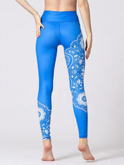 LikeBunny Boho Printed High-Rise Yoga Leggings