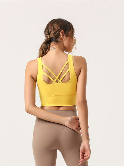 LikeBunny Back Round Sports Bra
