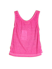 Fresh Toddler Girl's Letter Prints Sports Tank Top Rosy