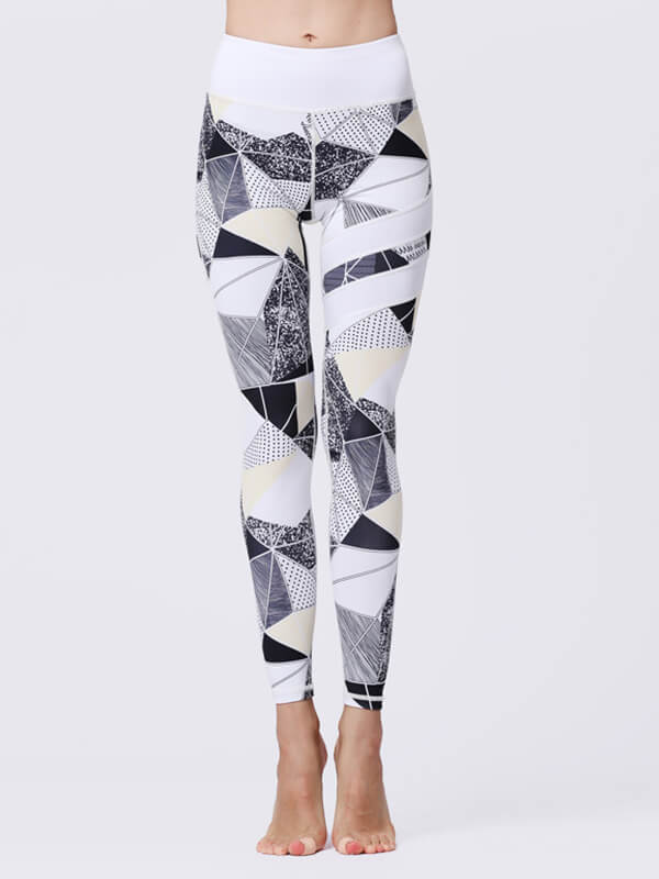 LikeBunny Geo Painted Matching High-Rise Sportswear