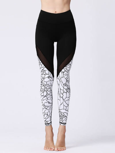 LikeBunny Mix & Mesh High-Rise Tight Sports Leggings