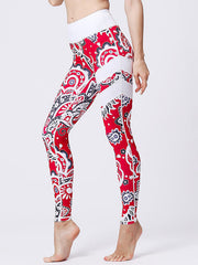 LikeBunny Red Painted Matching High-Rise Sportswear