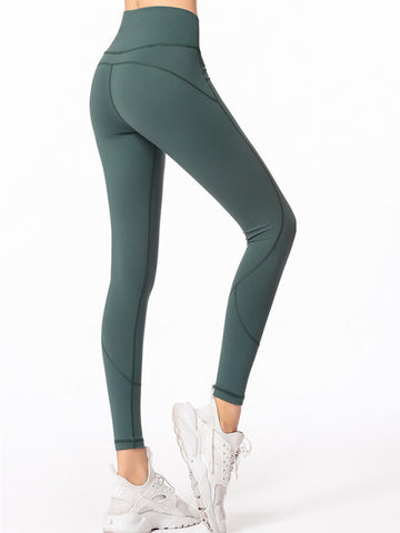 "LikeBunny High-Rise Tight Sports Leggings 28"" Green"