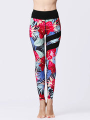 LikeBunny Red Flowers Painted Matching High-Rise Sportswear
