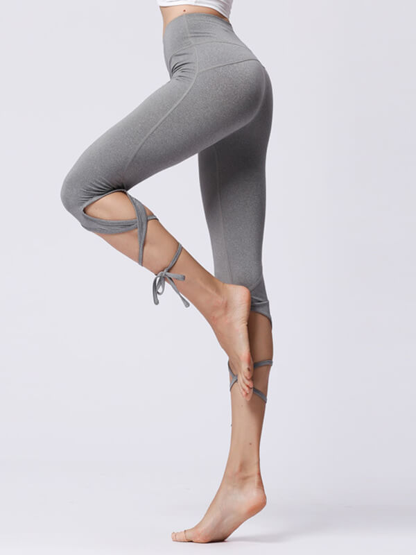LikeBunny High Waist Mid Calf Bandage Sports Leggings