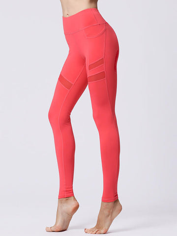 LikeBunny Mesh-Mix Tight Leggings with Pockets 28""