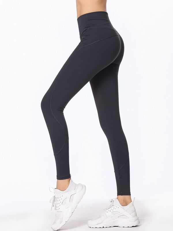 "LikeBunny High-Rise Tight Sports Leggings 28"" Deep Blue"
