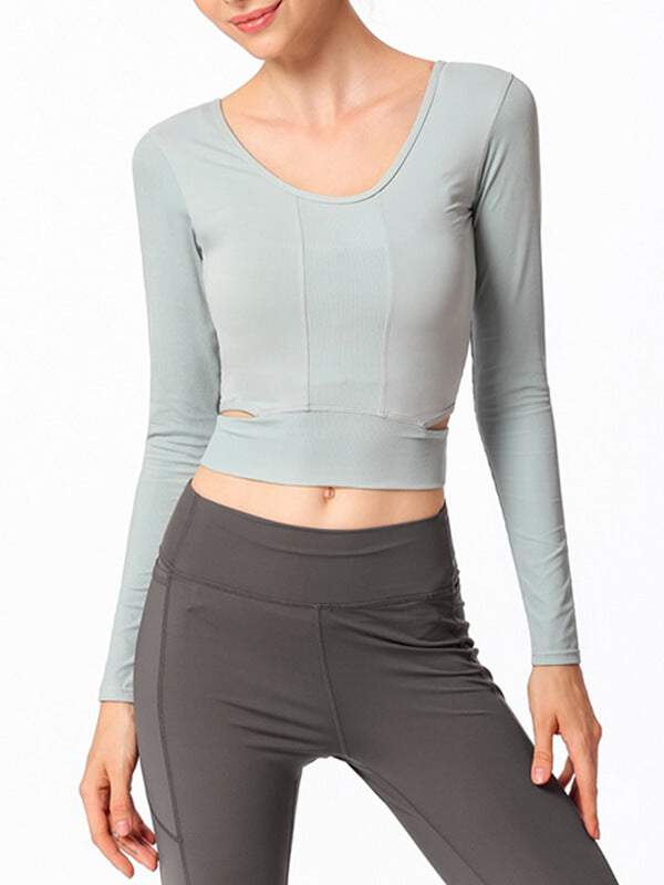LikeBunny Breeze By Long Sleeve Crop Top