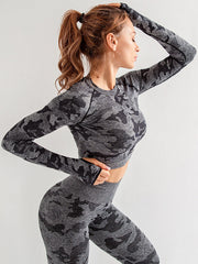 LikeBunny Harden Curve Long Sleeve Crop Top