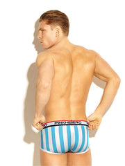 LikeBunny Vertical Stripes Printed Trunk 1212 blue