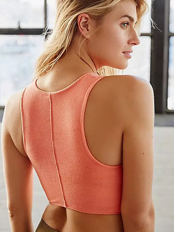 Slim Fit Yoga Activewear Crop Tank