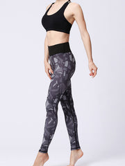 likeBunny Geo Pattern High Waisted Tight Leggings 28""