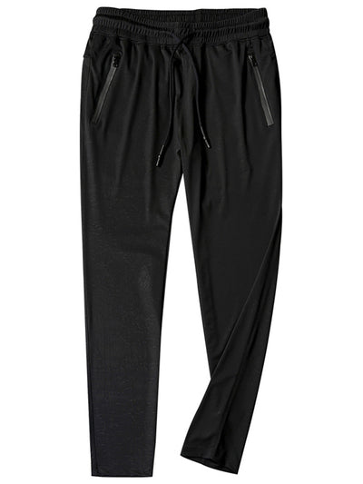 LikeBunny Jacquard Ice Silk Pants with Drawcord